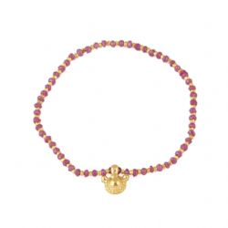 Faceted Ruby Vintage Pendant Bracelet